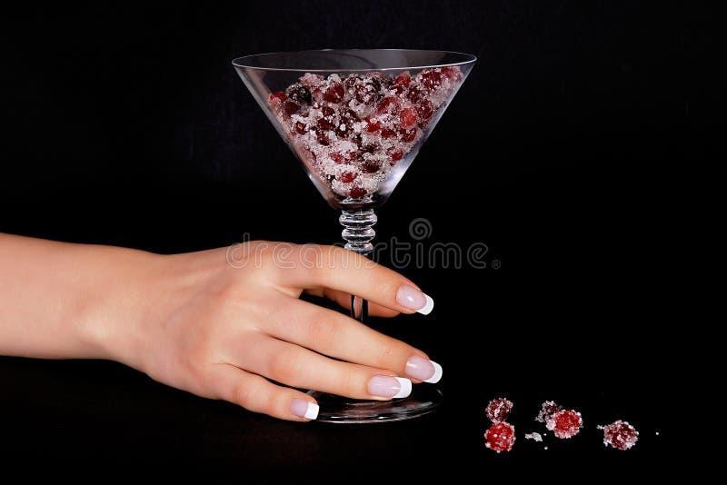 cranberriesfransmanmanicure royaltyfri foto