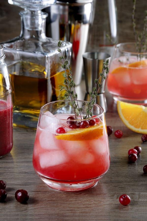 Cranberry bourbonu Pomara?czowy roztrzaskanie obraz stock