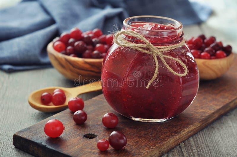 Cranberry dżem zdjęcie stock