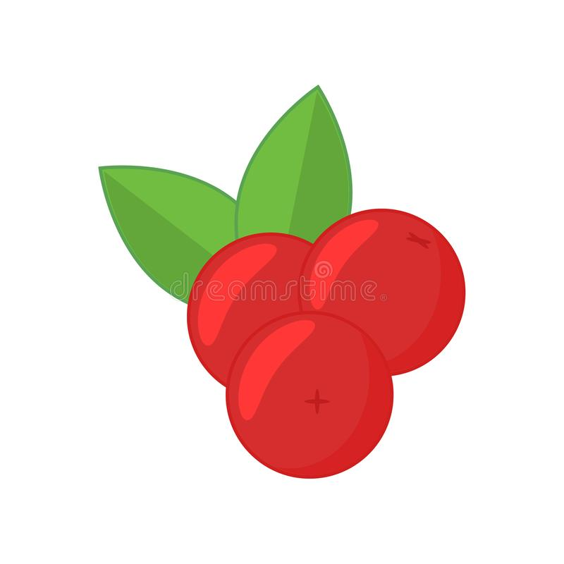Cranberry icon in flat style. vector illustration
