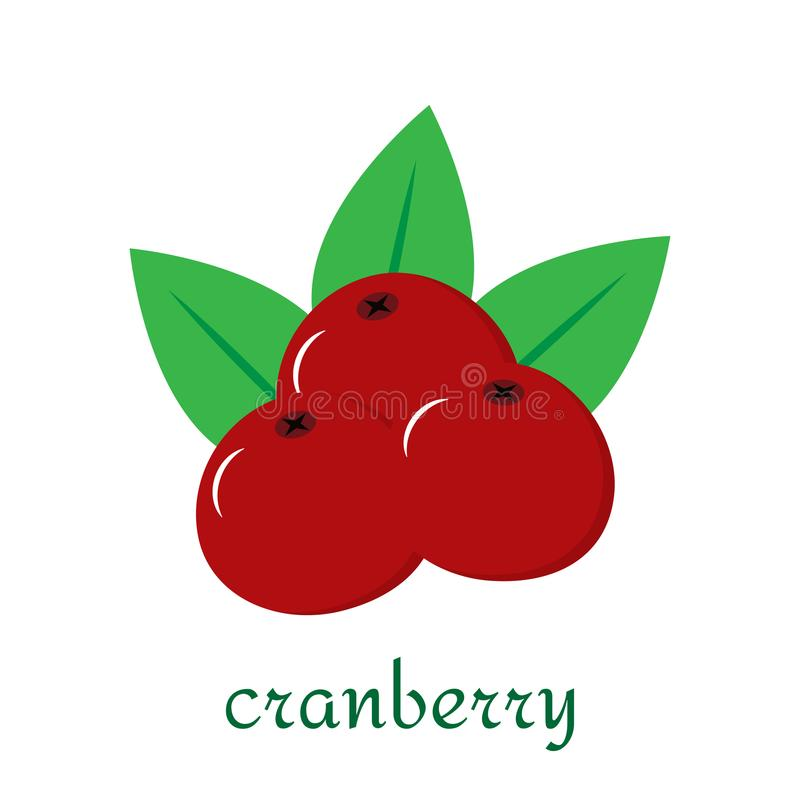 Cranberry icon in flat style isolated on white background. vector illustration