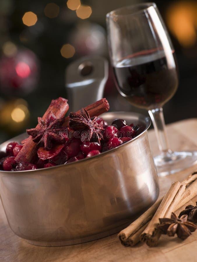cranberry ingredients sauce στοκ φωτογραφίες με δικαίωμα ελεύθερης χρήσης