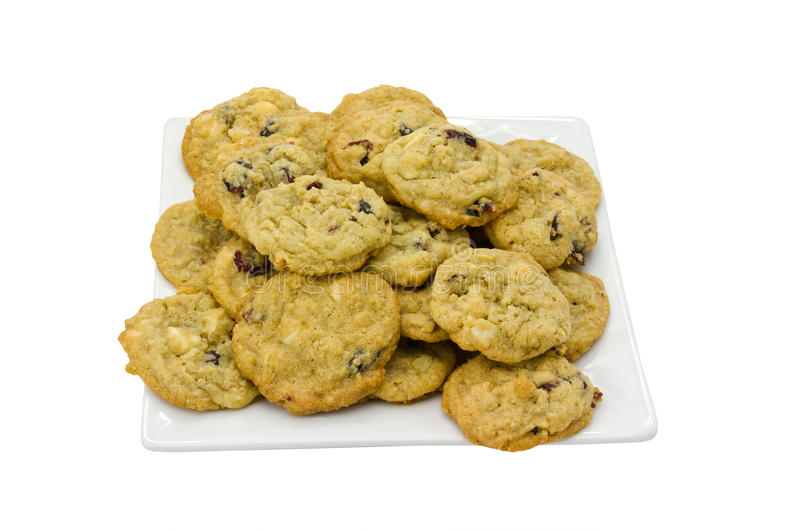 Cranberry And Macdamian Nut Cookies Royalty Free Stock Images