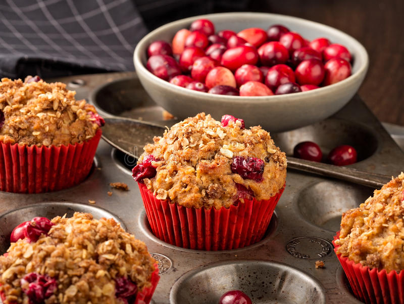 Cranberry muffins obrazy stock