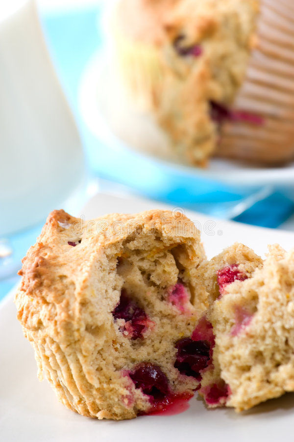 cranberry muffins obrazy royalty free