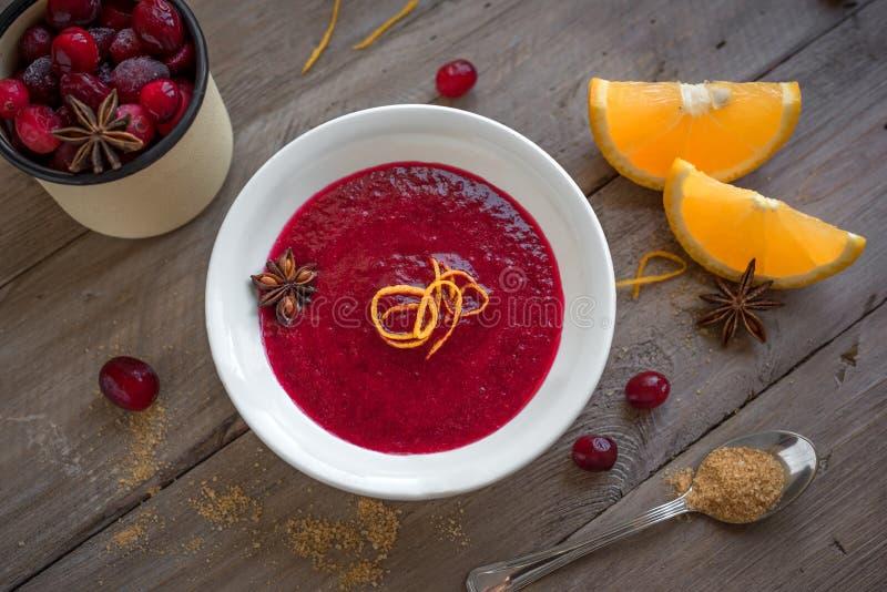 Cranberry orange relish sauce royalty free stock image