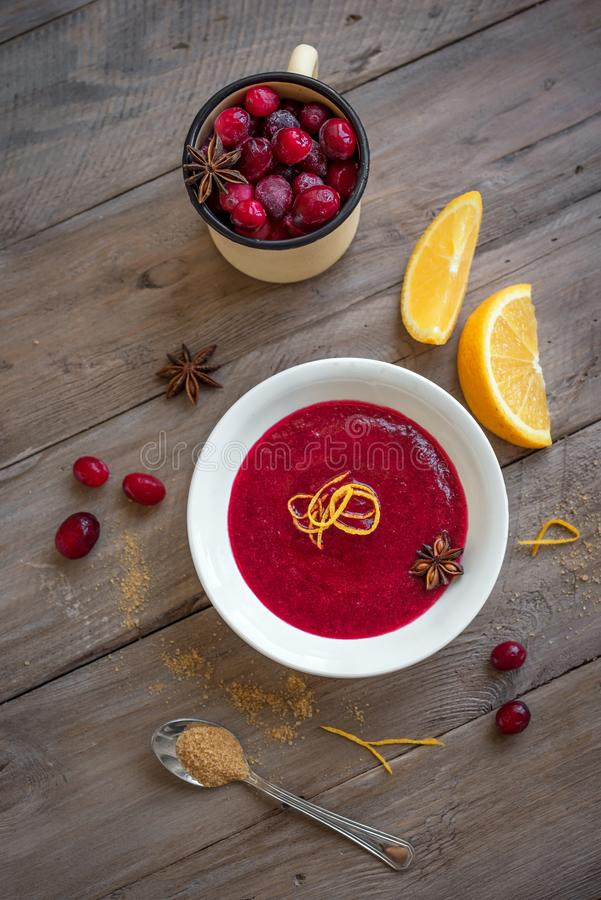 Cranberry orange relish sauce royalty free stock photography