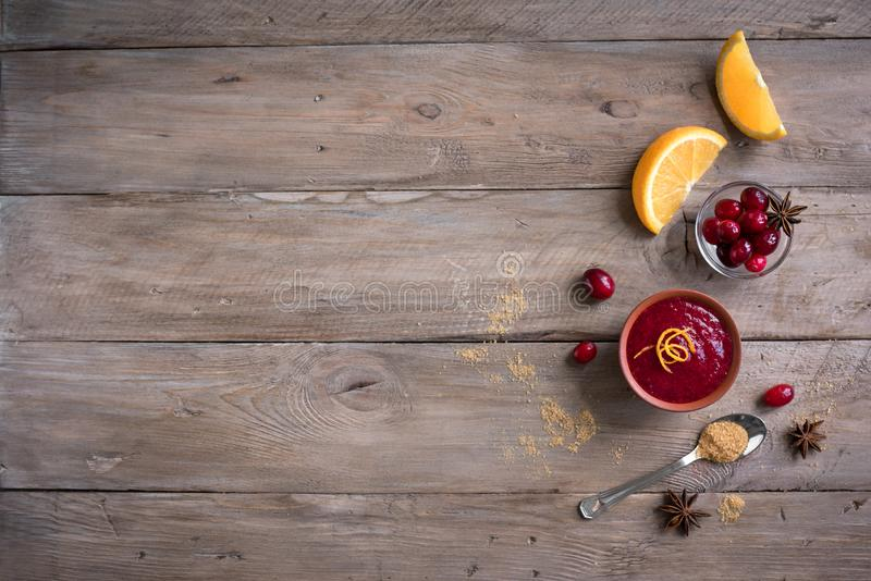 Cranberry orange relish sauce royalty free stock images