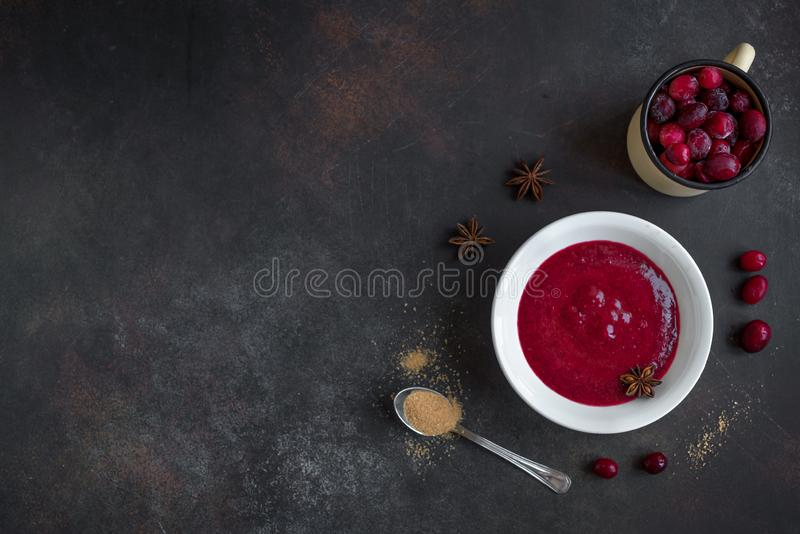 Cranberry relish sauce royalty free stock images