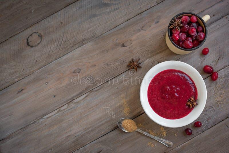Cranberry relish sauce stock images