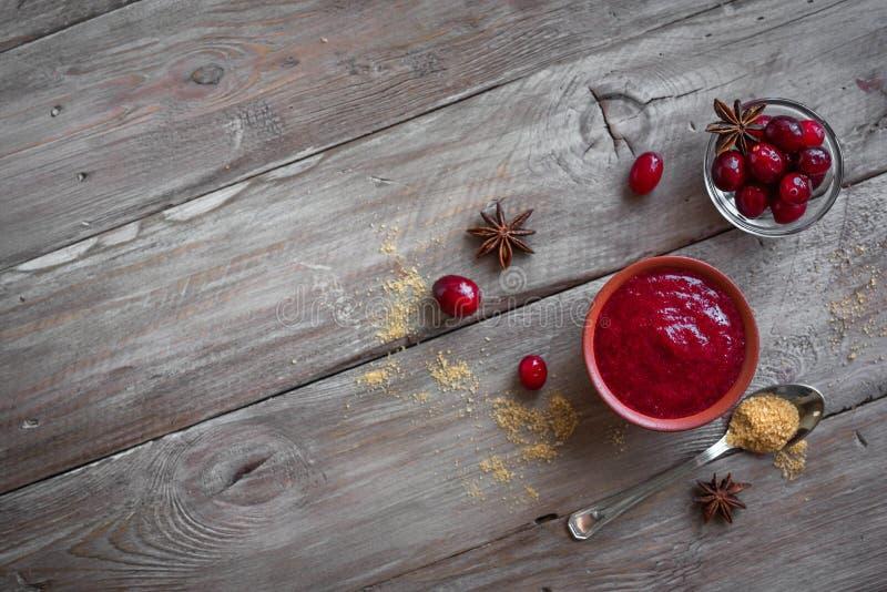 Cranberry Relish sauce royalty free stock image