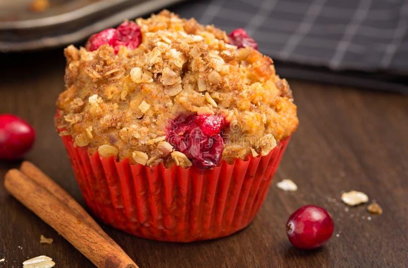 Cranberry słodka bułeczka obraz stock