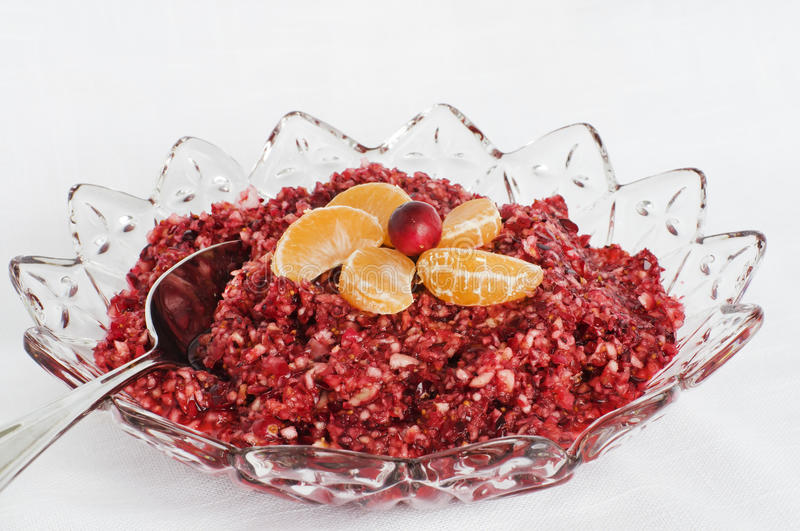 Cranberry Sauce royalty free stock image