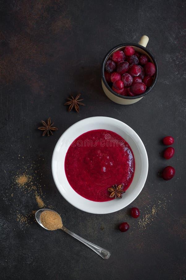 Cranberry Sauce Relish stock photos