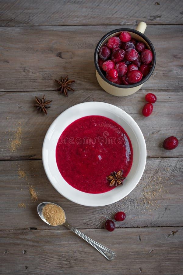 Cranberry Sauce Relish stock photography