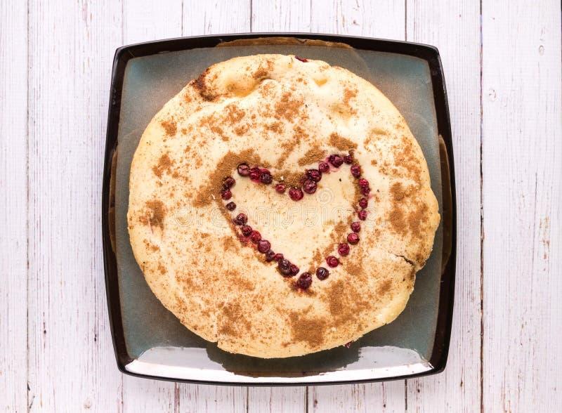 Cranberry tarta z sercem fotografia stock