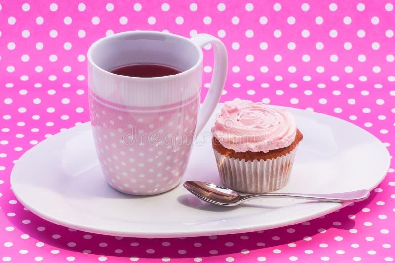 Cranberry Tea With Dessert Stock Image
