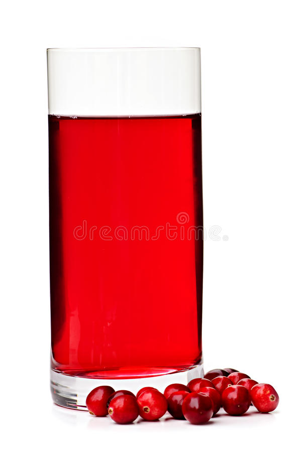 cranberryexponeringsglasfruktsaft royaltyfri bild