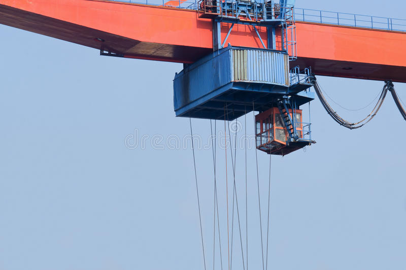 Download Crane stock image. Image of blue, lifter, cabin, lift - 22409763