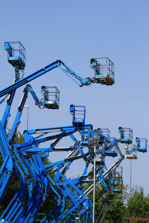 Download Crane stock image. Image of business, elevator, blue - 24105581
