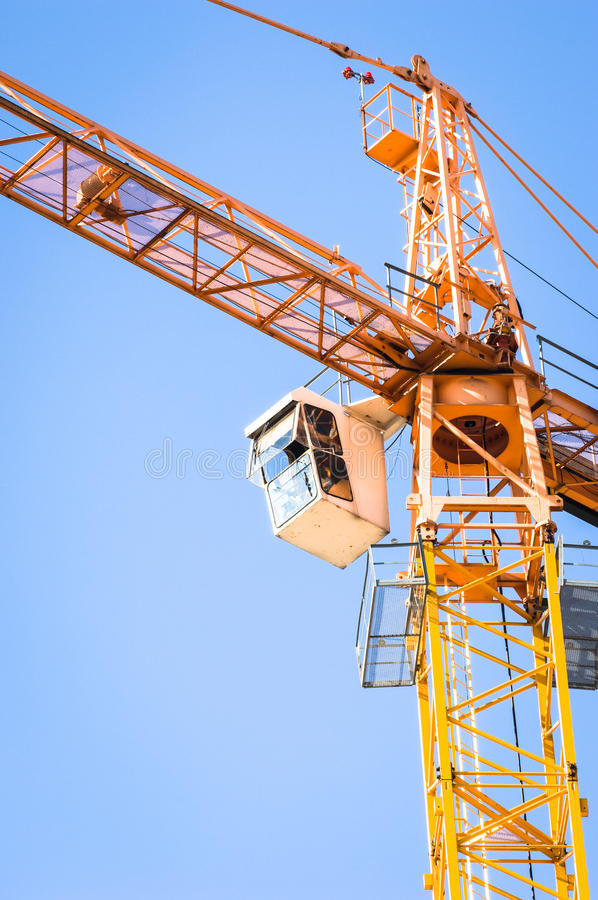 Download Crane stock photo. Image of vibrant, building, blue, clear - 28741970
