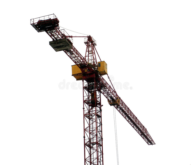 Crane 3. A construction crane, isolated royalty free stock photo