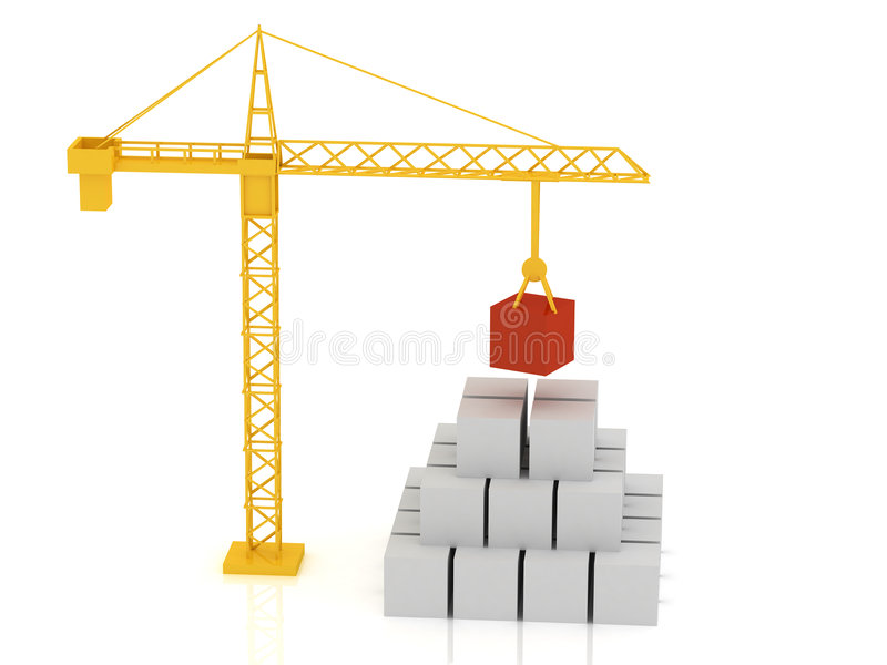 Crane 3d royalty free stock photo