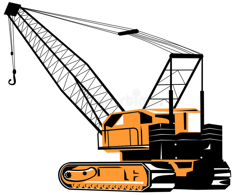 Crane royalty free illustration