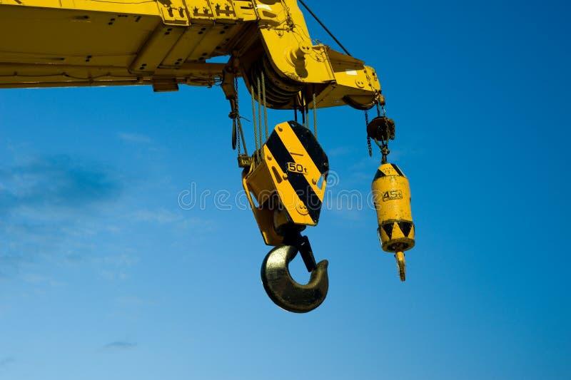 Crane. Heavy duty crane hook close up royalty free stock photos