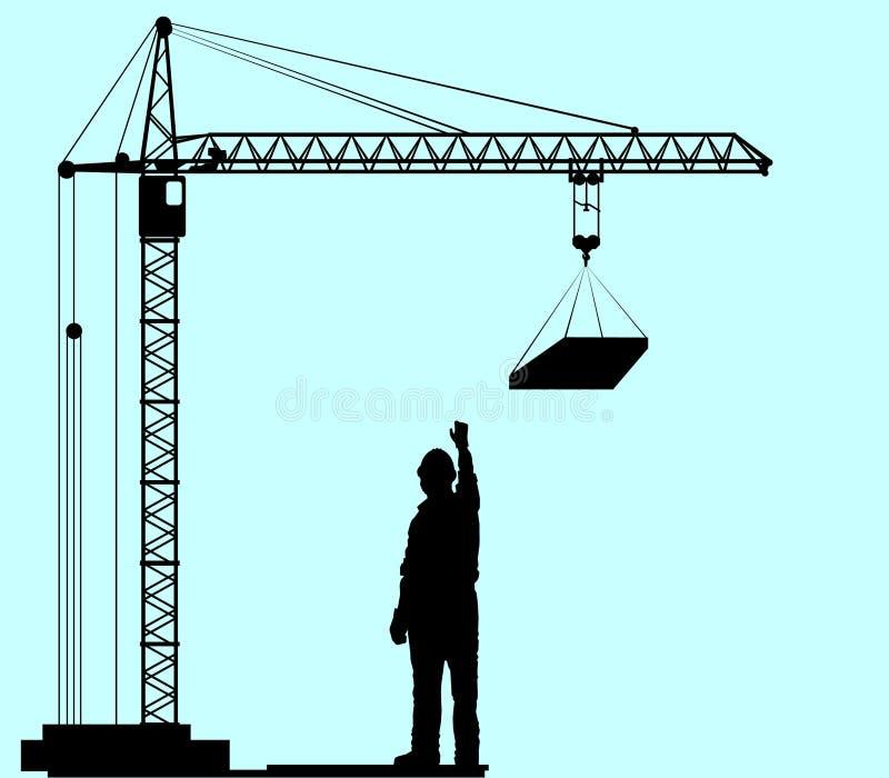 Crane stock illustration