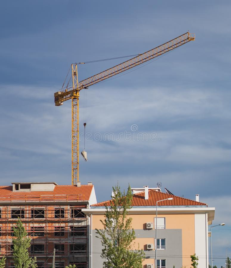 Crane being used royalty free stock photos
