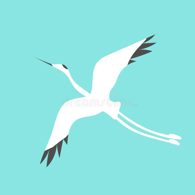 Crane Bird Logo vektor illustrationer