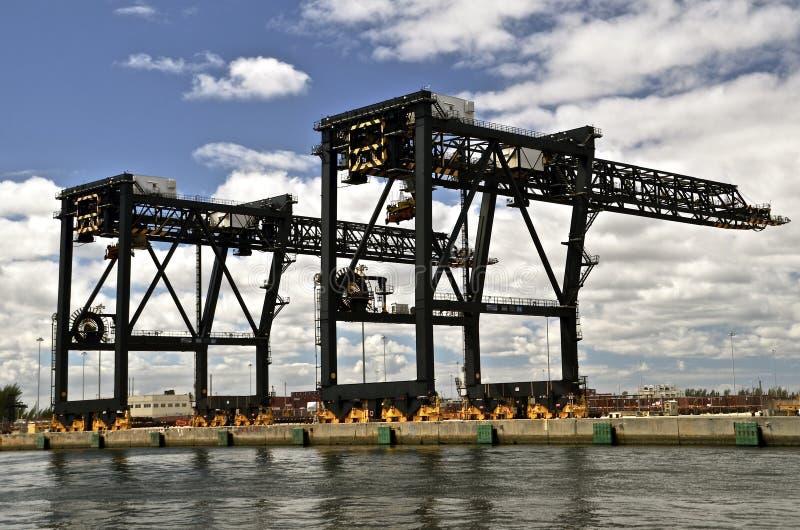 Crane Bridges In Shipyard lavorante immagine stock