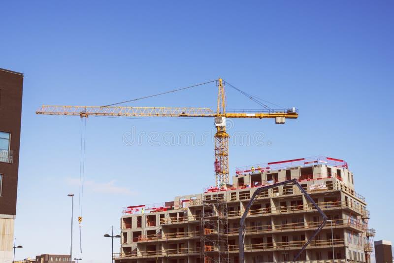 crane budowlanych zdjęcie royalty free