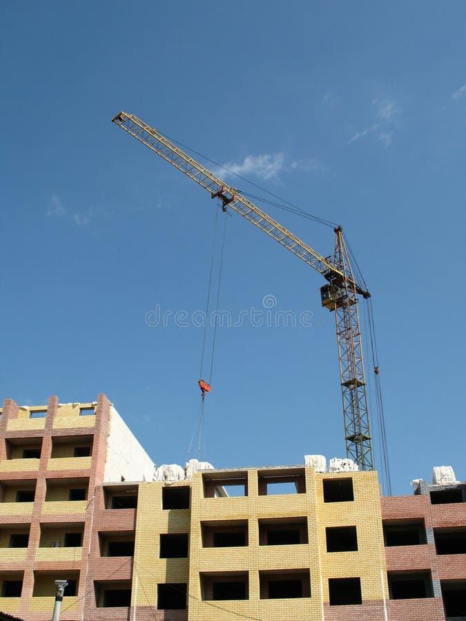 Crane in building. Building crane on construction vein high-rise building stock photos