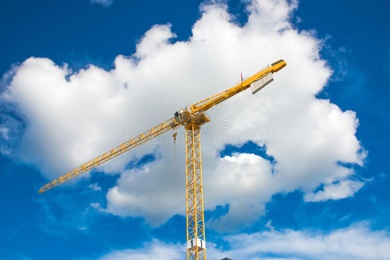 Download Crane And Building Construction Stock Photo - Image: 83706962
