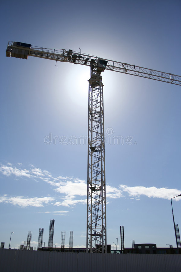 Crane at building site royalty free stock images