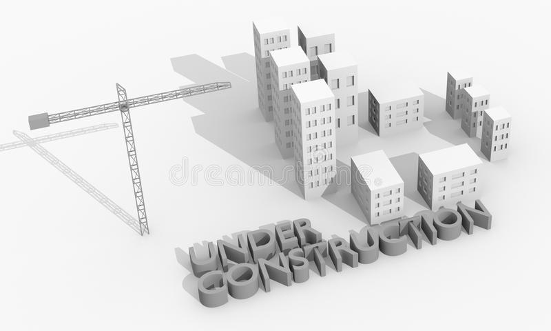 Download Crane and buildings stock illustration. Image of symbol - 23087963