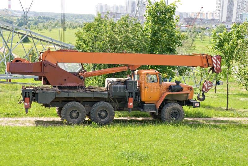 crane ciężarówka fotografia stock