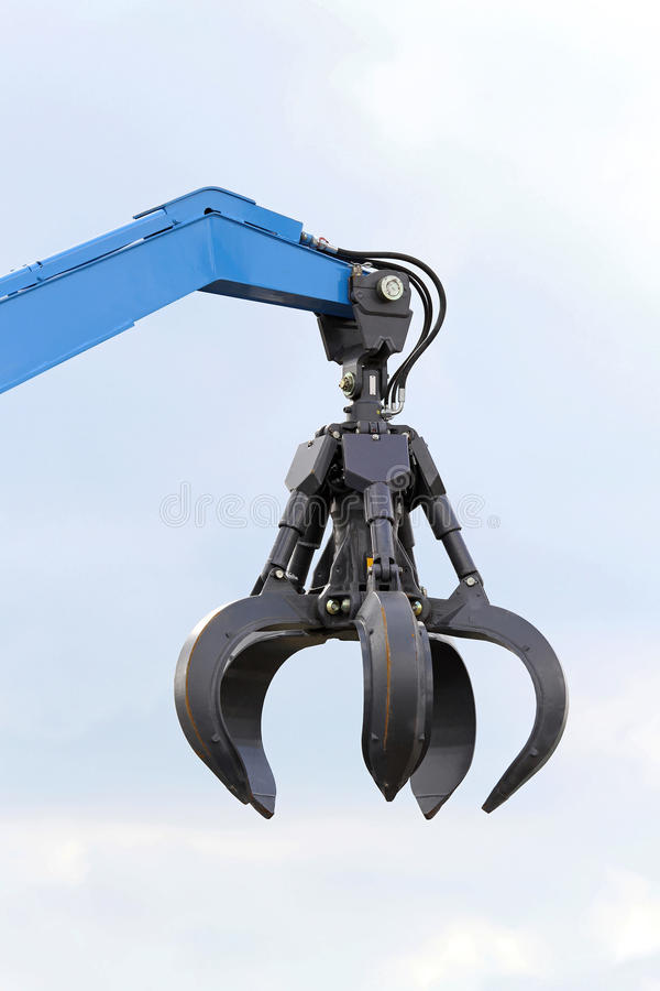 Hydraulic Robot Claw : Crane claw stock photo image of hydraulic open industry