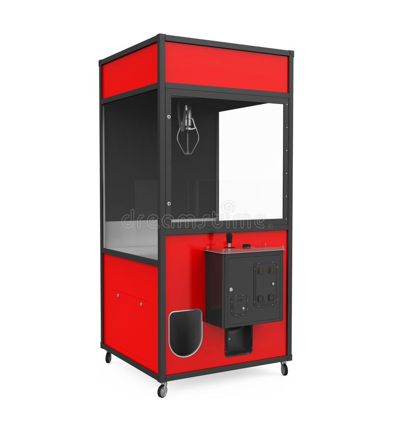 Crane Claw Machine Games Isolated. On white background. 3D render royalty free illustration