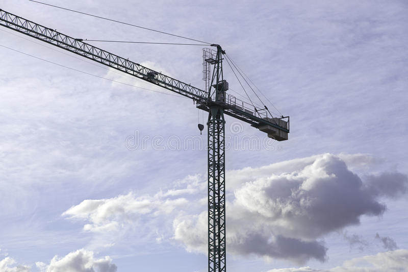 Download Crane construccion stock image. Image of raise, blue - 26613089
