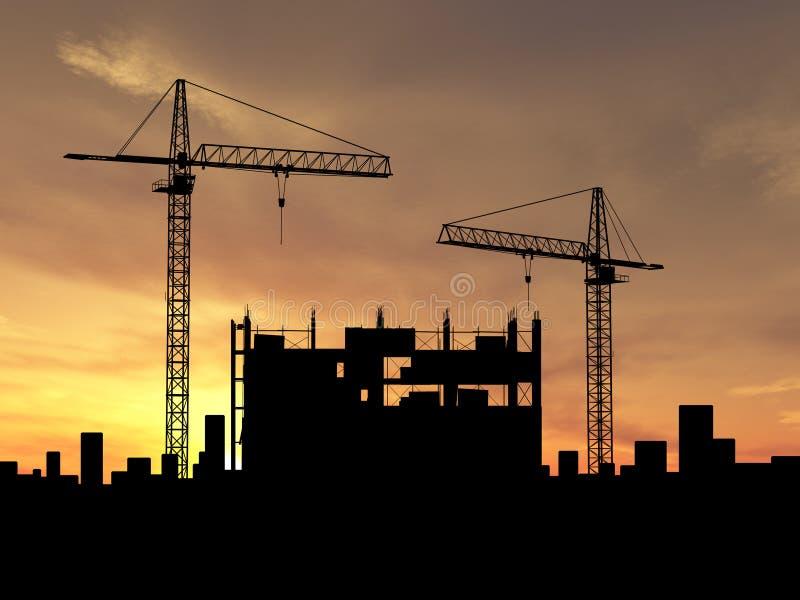 Download Crane construction stock vector. Illustration of architecture - 2502954