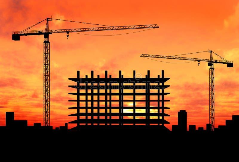Crane construction vector illustration
