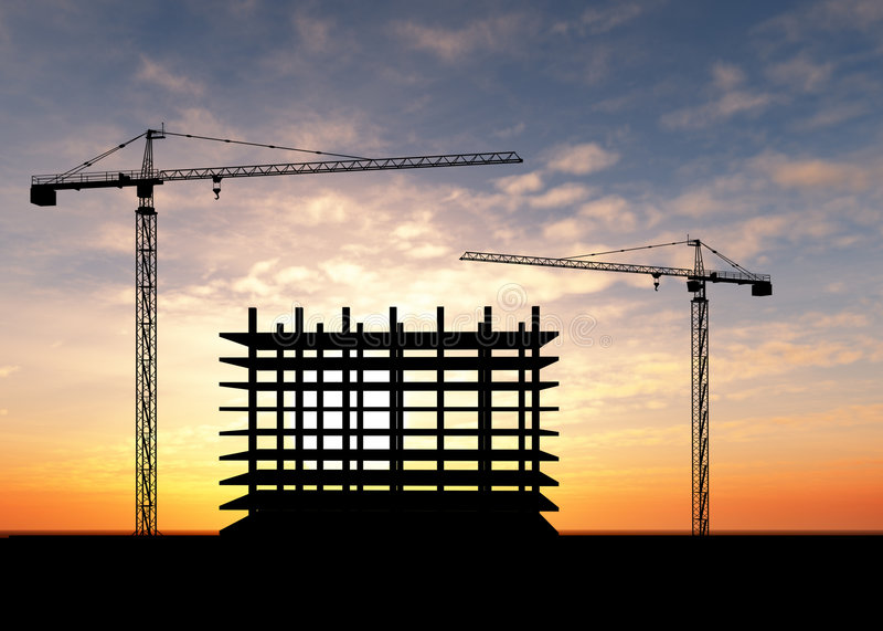 Crane construction royalty free illustration