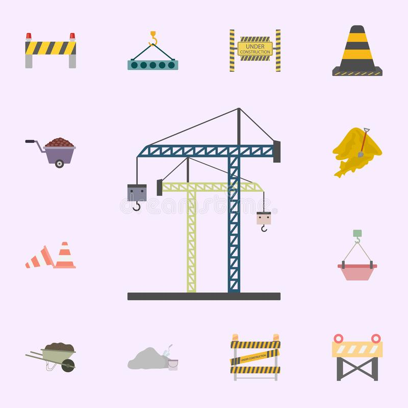 crane for construction colored icon. Building materials icons universal set for web and mobile royalty free illustration