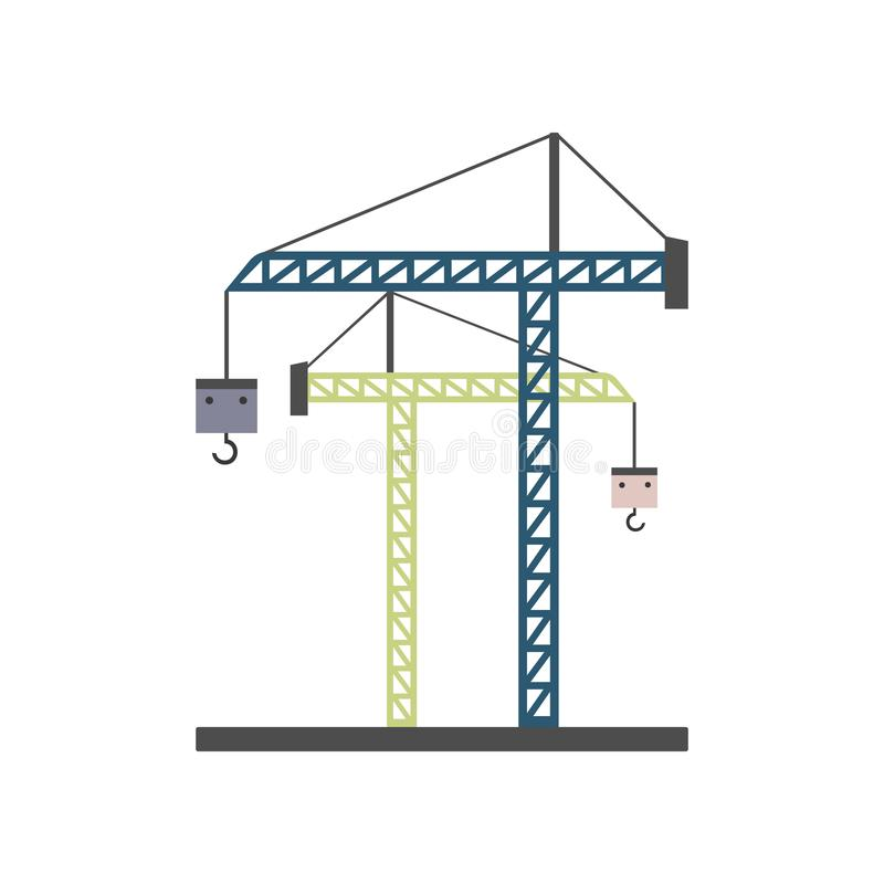 crane for construction colored icon. Element of colored construction sign for mobile concept and web apps. Color crane for constru royalty free illustration