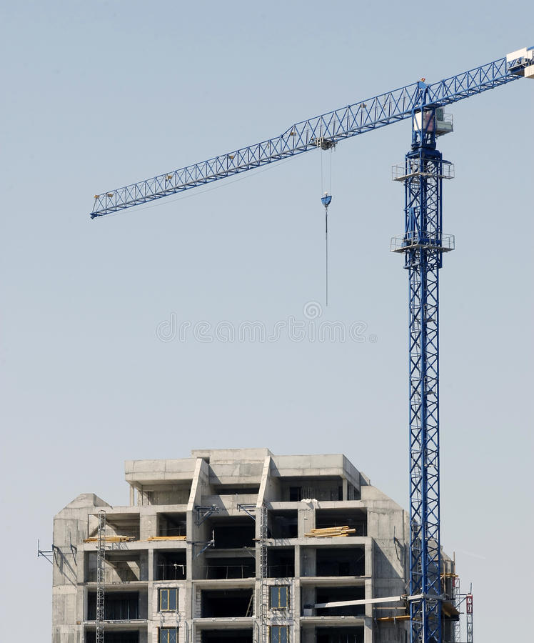 Crane On Construction Site Royalty Free Stock Photo