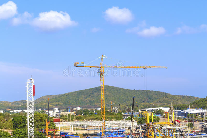 Download Crane On A Construction Site. Stock Photo - Image: 23916968