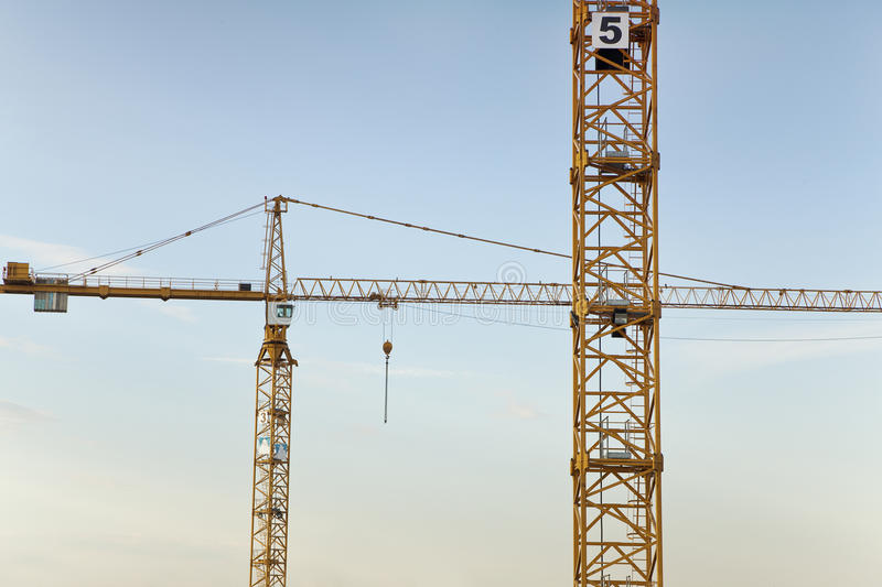 Download Crane on Construction Site stock photo. Image of activity - 25237678